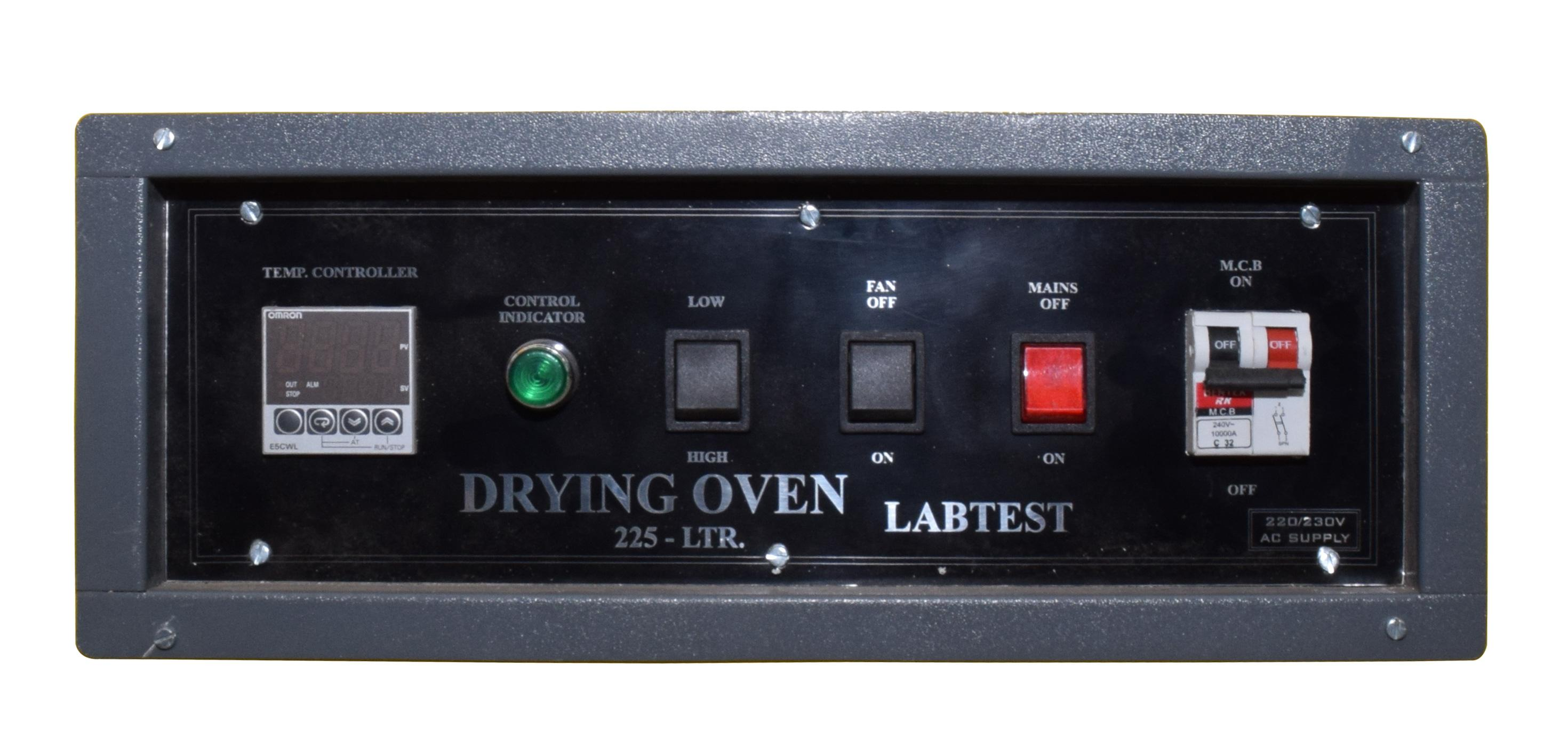 Control panel - Digital Double Door Drying Oven