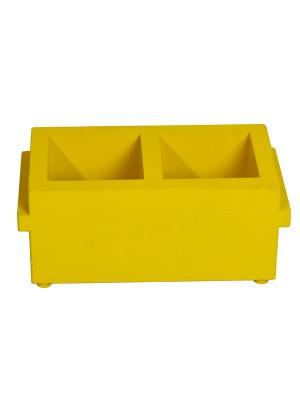 100 mm Plastic Two Gang ABS Cube Mould 0.9 KG, ZI-2027D
